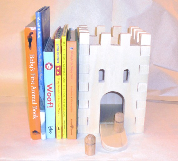 Happy-Bungalow-wood-toy-castle-bookend-prototype-570
