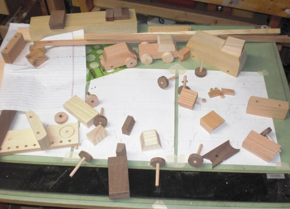 Wood Cars on the Drawing Board.