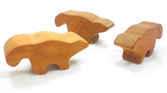 wood toy skunk