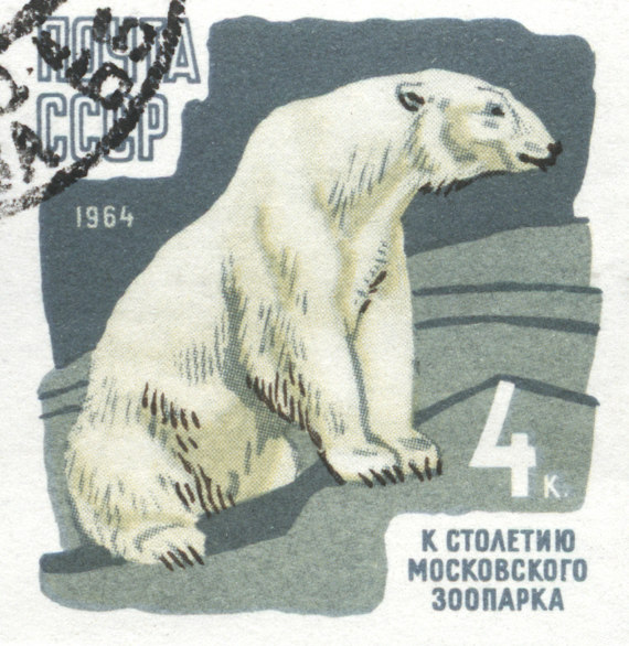 Polar Bear on Russian Stamp