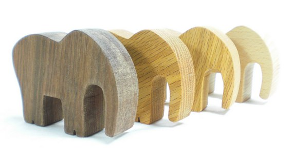 wooden elephant toy party favor