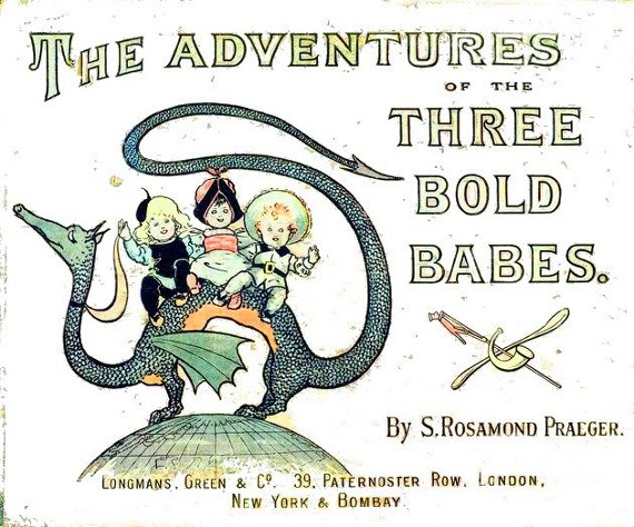 vintage illustration  the adventures of three bold babies