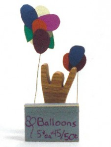 miniature balloon stand