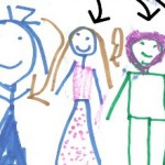 kid illustration of family