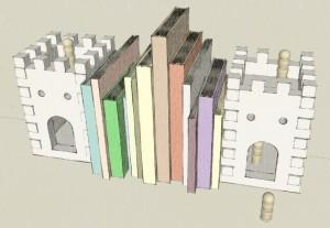digital castle bookend model