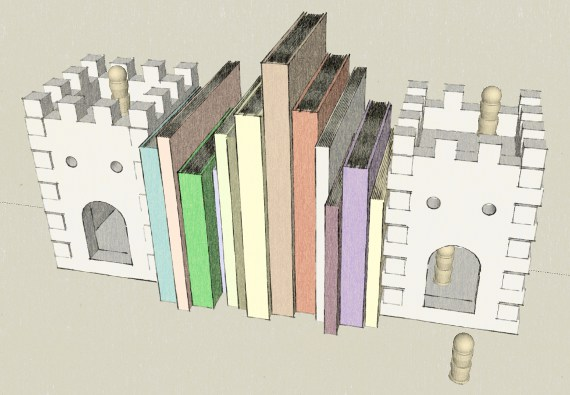 digital castle bookend model