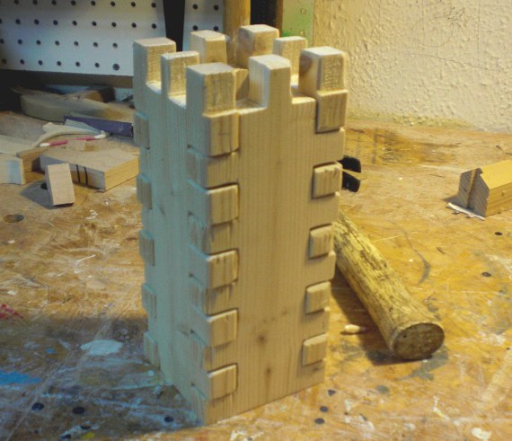 wooden castle prototype