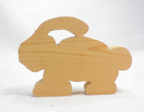 scroll saw rabbit profile