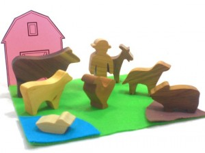 farm animal wooden toys