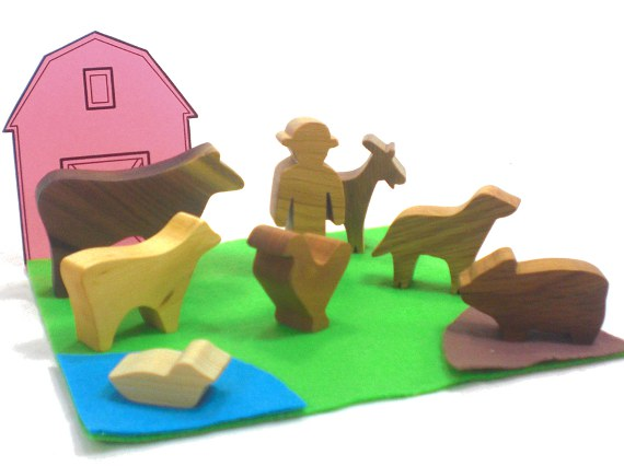 farm animal wooden toys