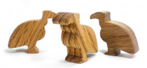 wooden vulture toy
