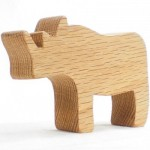 wood toy rhino toy for boys