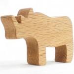 wood toy rhino toy for boys