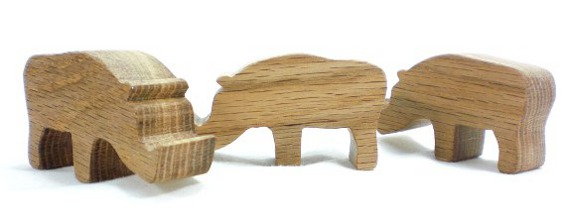 wood animal toy warthog