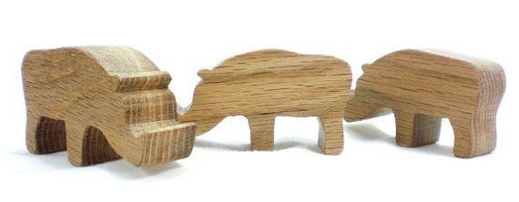 wood animal toy warthog
