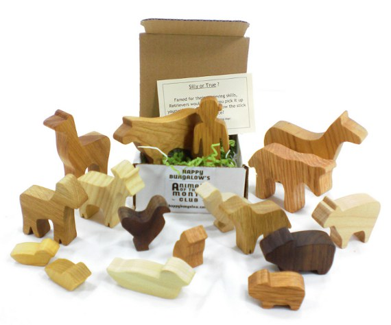 wooden farm toy of the month