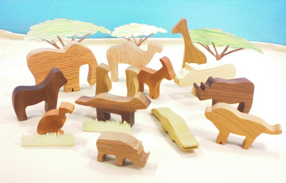 wooden animal toys