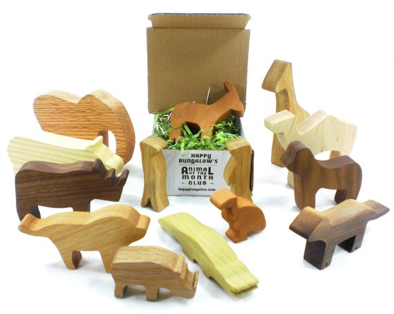 safari animal toy of the month club packaging
