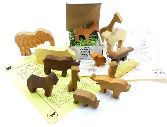 safari animal toy of the month club packaging and extras