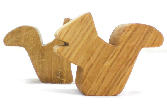 wooden squirrels