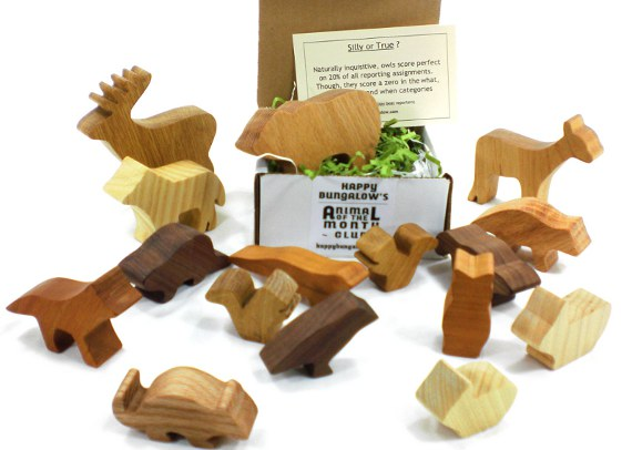 woodland wooden animal toys by mail