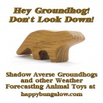 wood groundhog toy