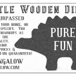faux vintage for little wooden dinosaur