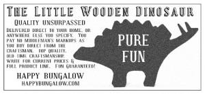 faux vintage for little wooden dinosaur