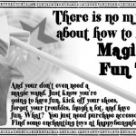 vintage advertisement for magic wand and unicorn