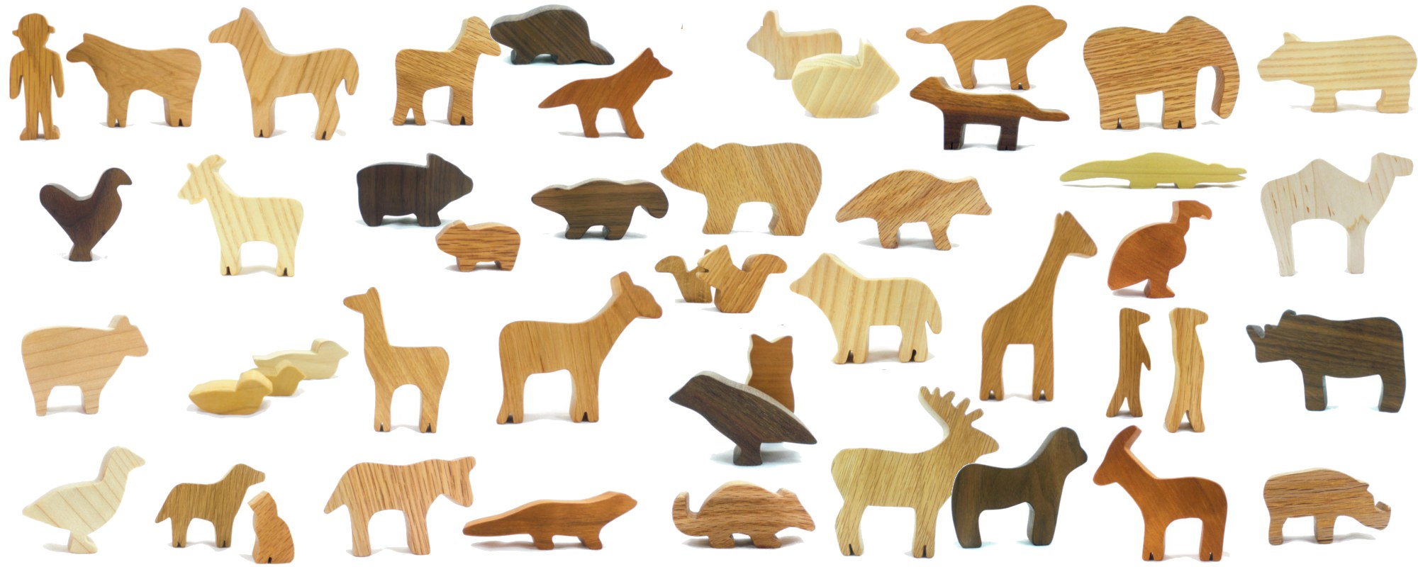 Wooden animals ornaments - Wooden Animal Toys