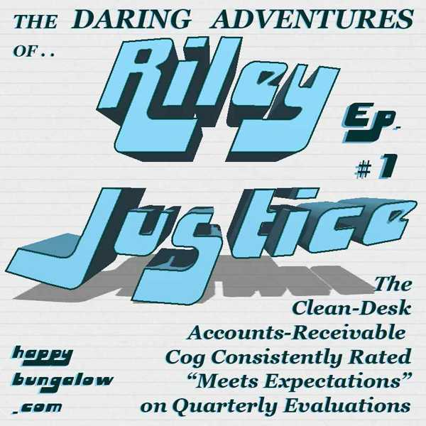 logo for Serial Fun Office Fiction Riley Justice by Don Clark