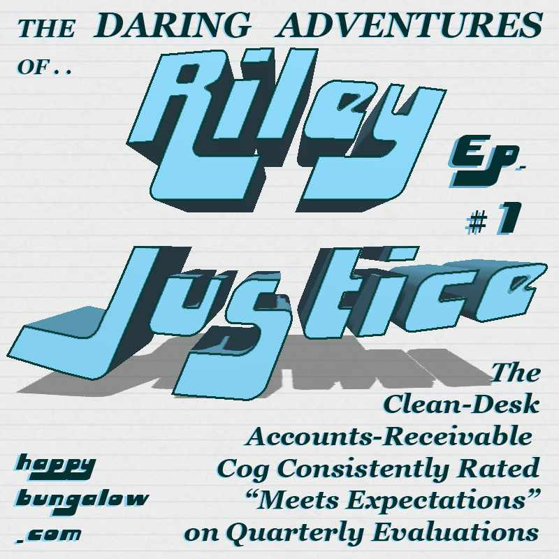 Serial Fun Office Fiction Riley Justice logo