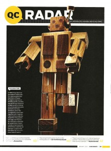 Cincinnati Magazine January 2013 On the Radar Robot Toy by Happy Bungalow