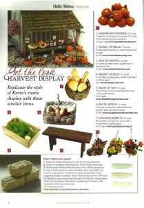 Dolls House Magazine October 2015 - miniature furniture by Happy Bungalow
