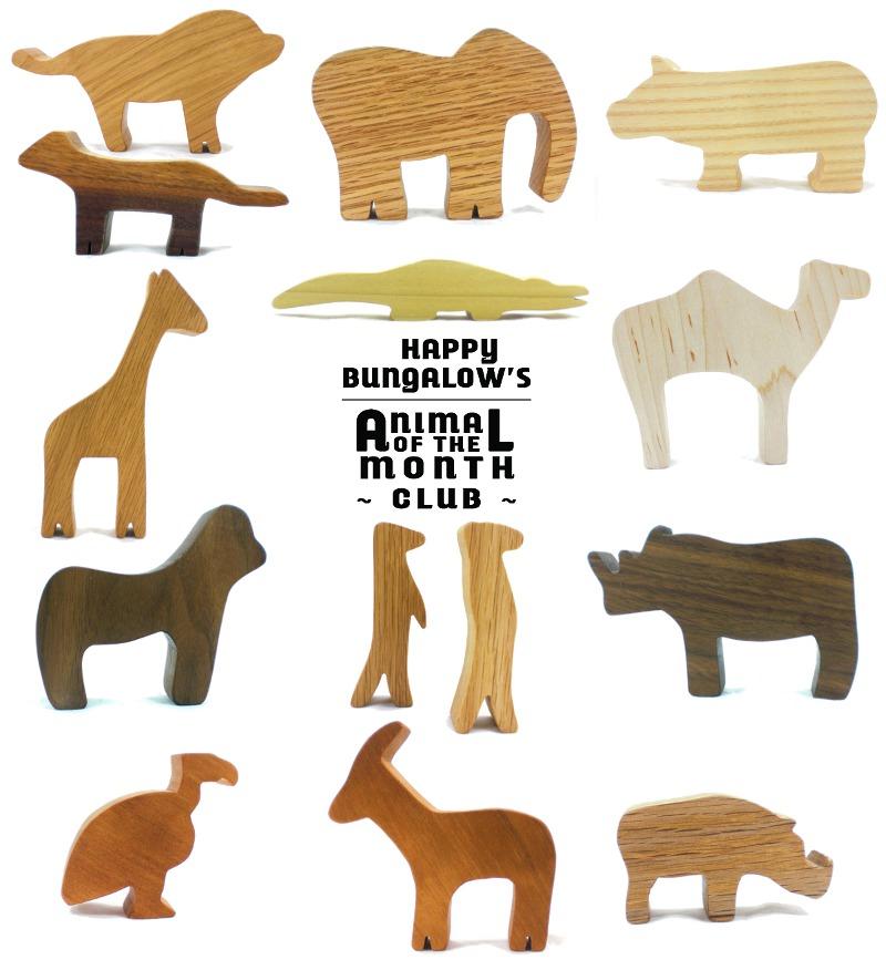 woodland animal toy club wooden safari animal toys