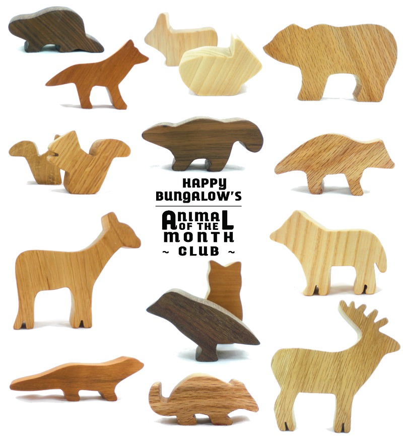 woodland animal toy club wooden forest animal toys