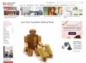 apartmenttherapy.com Wooden Robot by Happy Bungalow