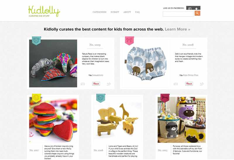 kidlolly.com Wood Toy Animals by Happy Bungalow