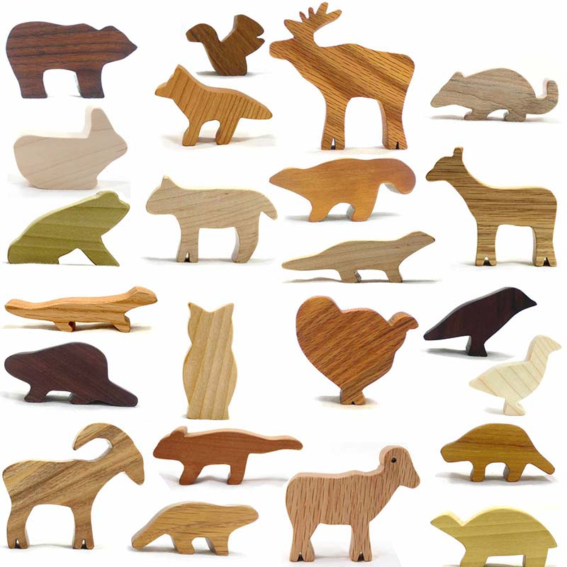 Wood Animal Toys Happy Bungalow