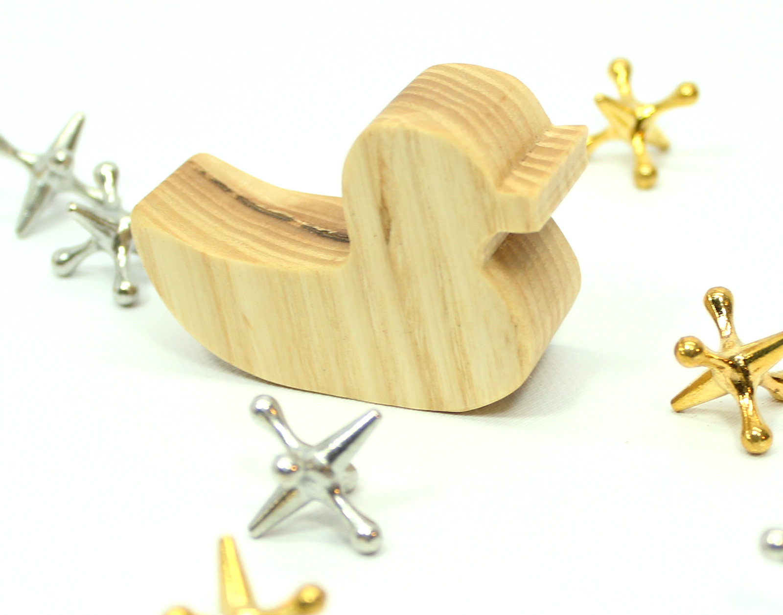 Wooden Rubber Duck Toy