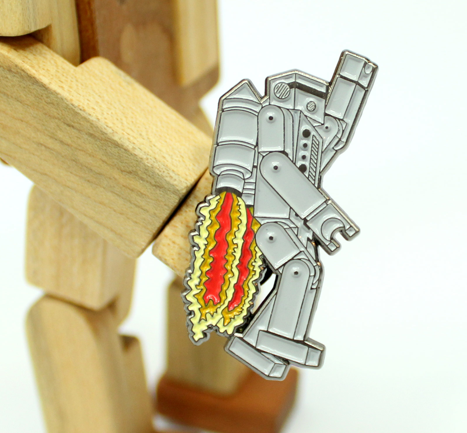 Rocket Rob Enamel Pin