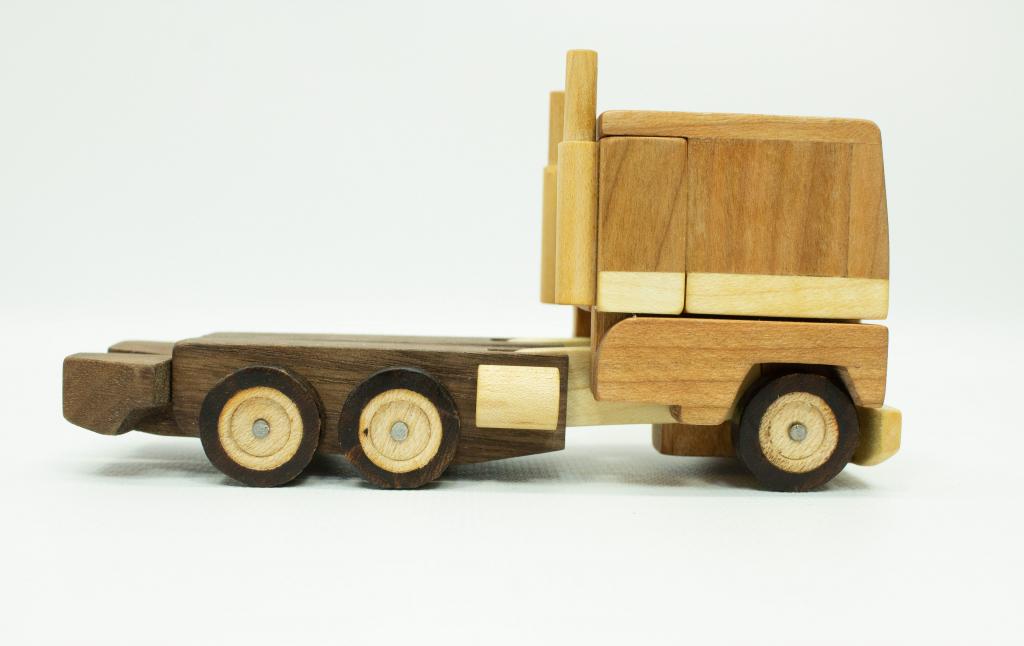 Handmade Wood Optimus Prime Toy
