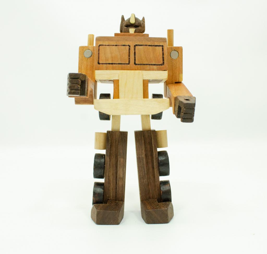 wood transformer toy